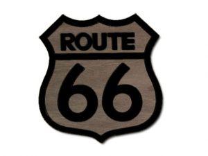 dekorace Route 66 černá