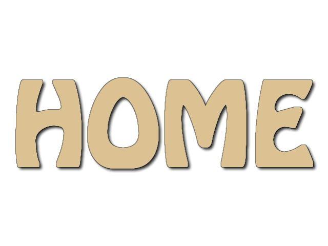dekorace textu HOME