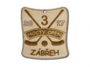 dřevěná medaile Hocty