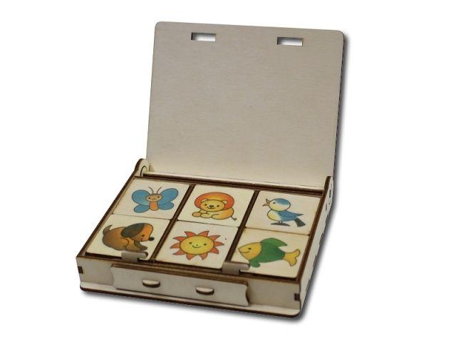 Dřevěné pexeso v krabičce