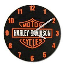 dřevěné hodiny Harley Davidson