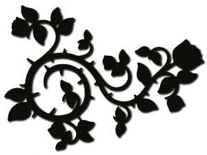 dekorace růže černě mořená