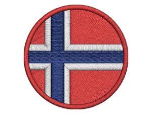 Norská vlajka kulatá