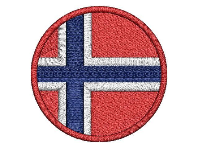 kulatá Norská vlajka