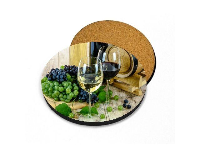 podtácek zátiší s vínem