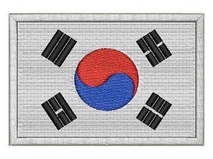 Nášivka vlajka Jižní Korea