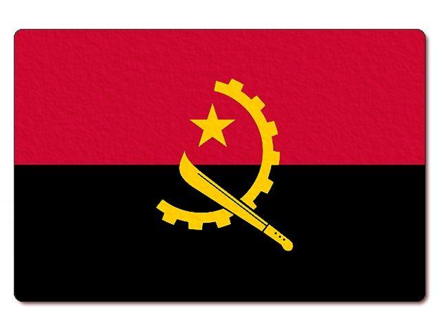 Tištěná angolská vlajka