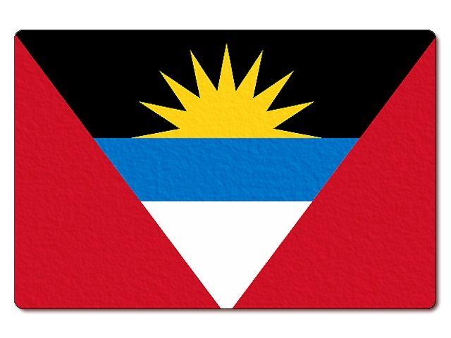 Tištěná antiguajsko-barbudská vlajka