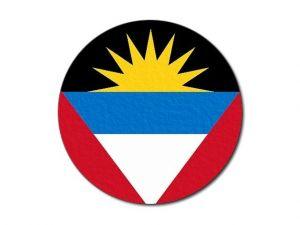 Antiguo Barbudská vlajka  kulatá tisk