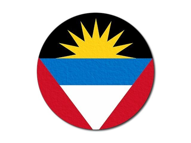 Tištěná antiguajsko-barbudská vlajka kulatá