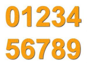 Číslice 01 filc 5 cm