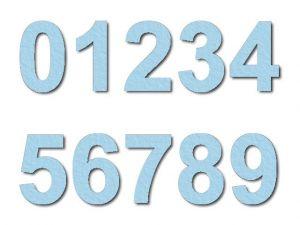 Číslice 01 filc 7,5 cm