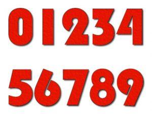 Číslice 02 filc 10 cm