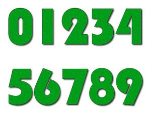 Číslice 02 filc 2,5 cm