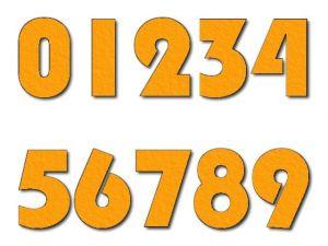 Číslice 02 filc 5 cm