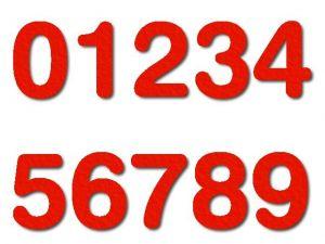 Číslice 06 filc 10 cm