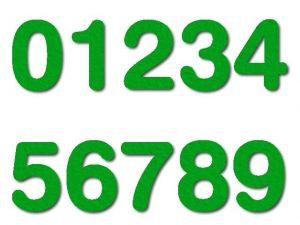 Číslice 06 filc 2,5 cm