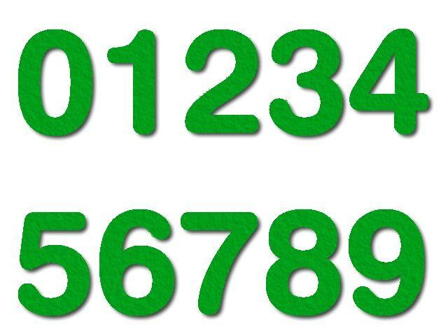 číslice z filce