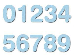 Číslice 06 filc 7,5 cm