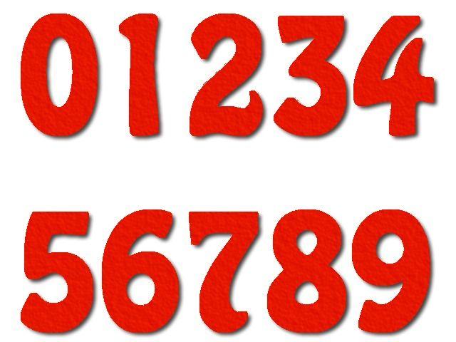 číslice z filce HomewardBound