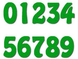 Číslice 07 filc 2,5 cm