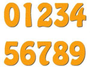 Číslice 07 filc 5 cm