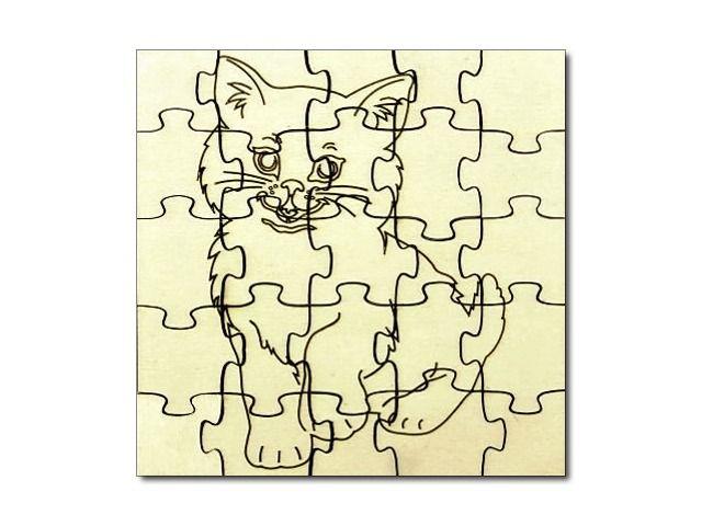 Puzzle dřevěné Kočka