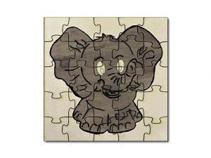 Puzzle vybarvené