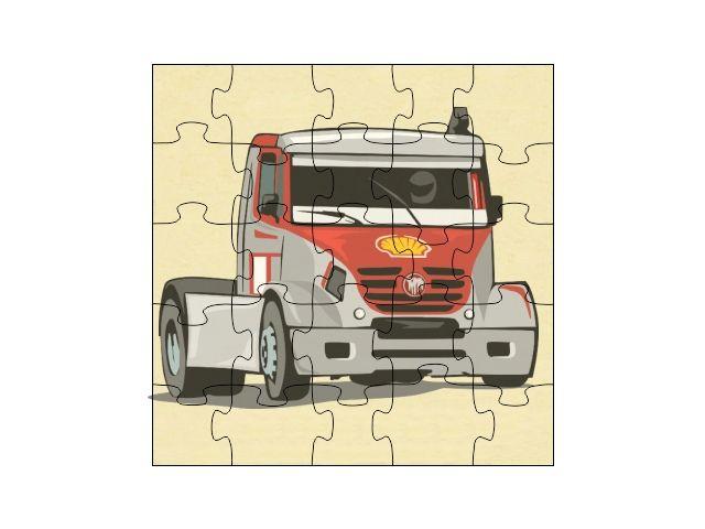 Dřevěné puzzle Tahač