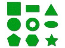 filcové geometrické tvary