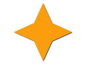 Filcová hvězda 1 - 4 cípy