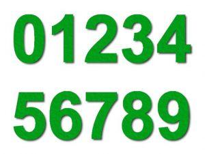 Číslice 01 filc 2,5 cm