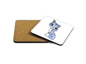 Podtácek čtverec Kočka 1