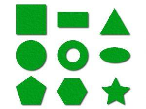 Geometrické tvary z filce