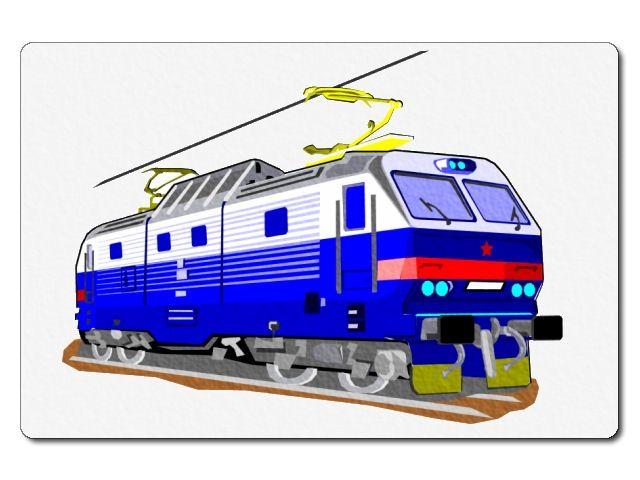 nažehlovačka s lokomotivou