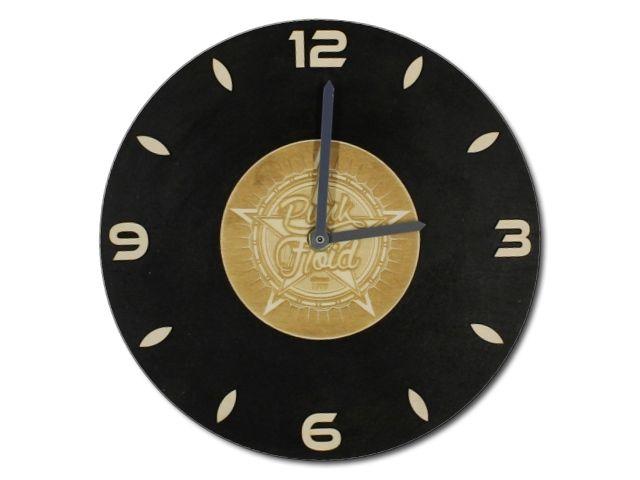 dřevěné hodiny Punk Floid
