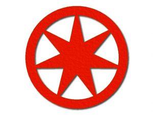 Filcová hvězda 3 - 7 cípů