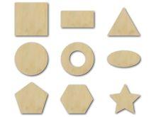 dřevěné geometrické výřezy