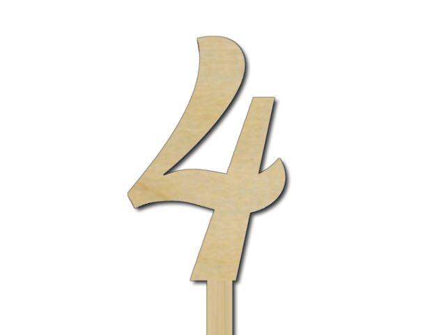 zápich čísla 4