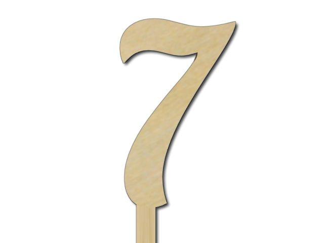 zápich čísla 7