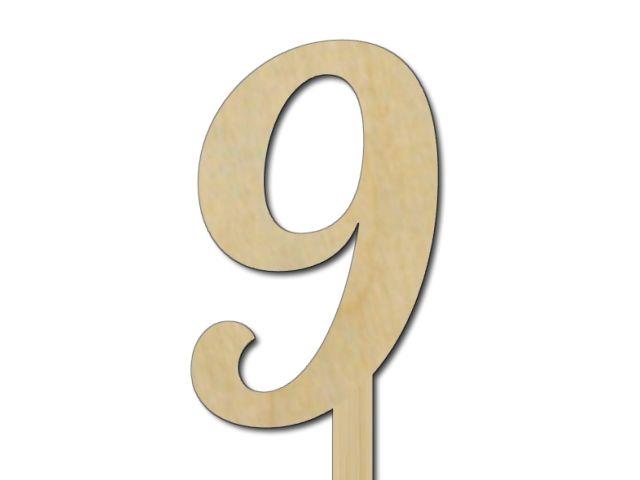 zápich čísla 9