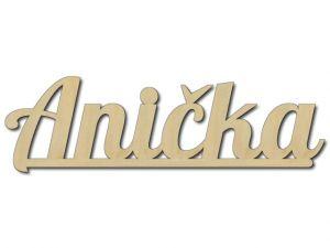 ukázka jména Anička