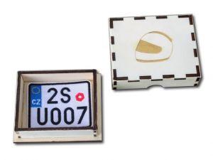 Dárková krabička s vyšívanou SPZ