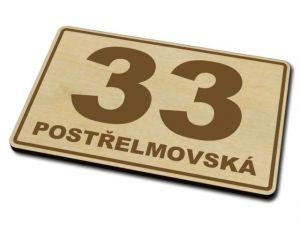 Dřevěné domovní číslo 02