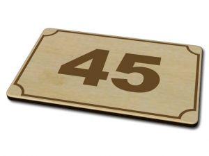 Dřevěné domovní číslo 03