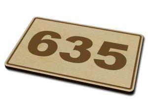 Dřevěné domovní číslo 01
