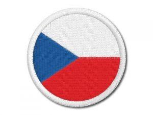 Nášivka Česká vlajka kulatá