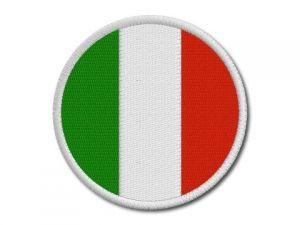 Nášivka Italská vlajka kulatá