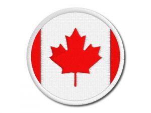 Nášivka Kanadská vlajka kulatá