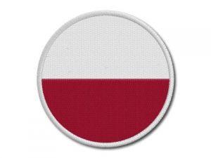 Nášivka Polská vlajka kulatá